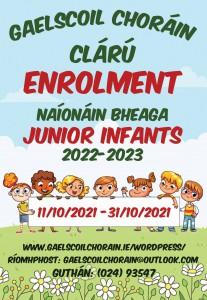 Gaelscoil Chorain ADVERT
